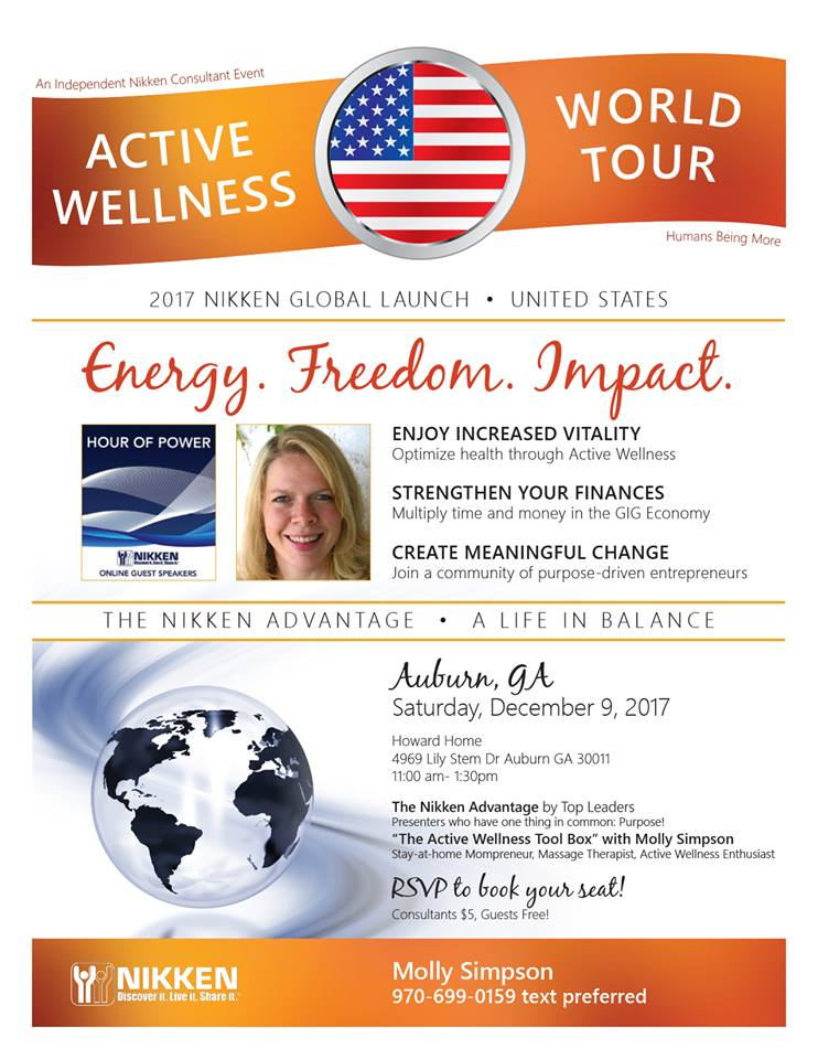 Auburn, GA - Active Wellness Tour w/  Molly Simpson & Top Leaders Speaking @ Howard Home | Auburn | Georgia | United States