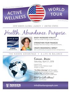 Canaan, Maine - Active Wellness Tour w/ Barbara Joseph & Top Leaders @ Wellness Home of Barbara Joseph