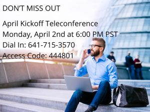 Nikken International Inc. April Kickoff Call @ Telephone Conference