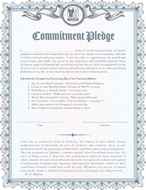 Nikken Commitment Pledge