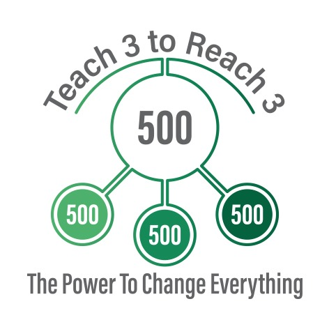 Teach 3 To Reach 3 Logo