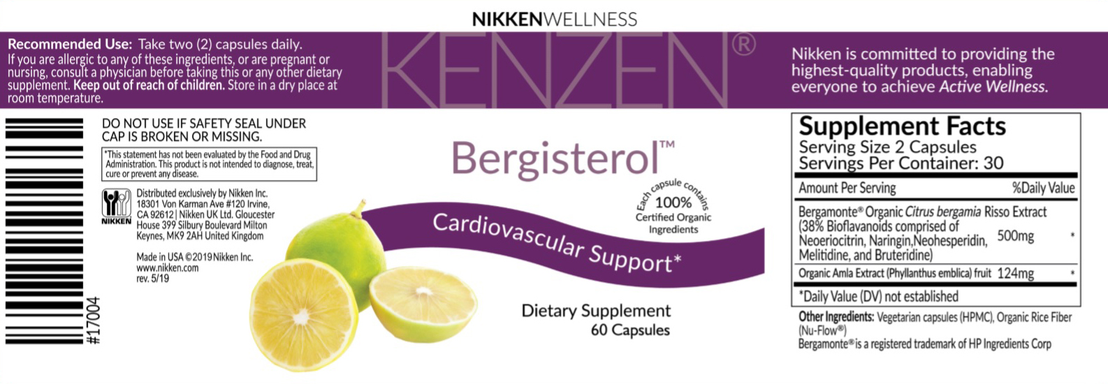 Bergisterol label
